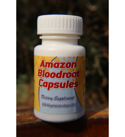 Amazon Bloodroot Capsules - 100 Vegetarian Capsules x 300mg