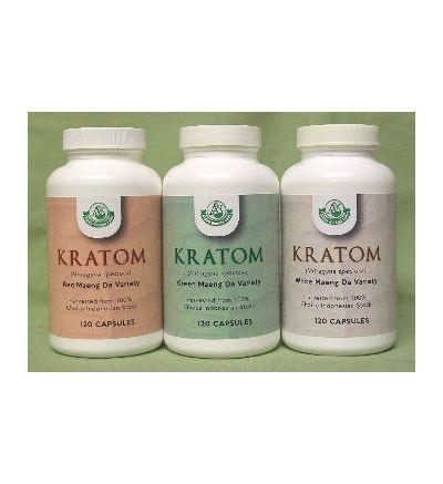Green Maeng Da Kratom (120 Capsules x 800 mg)