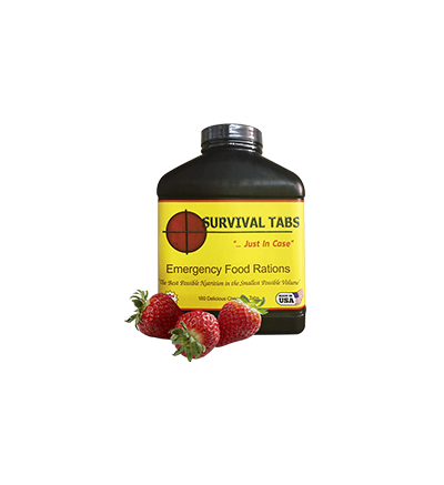 Survival Tabs-Strawberry (FREE SHIPPING in the U.S. and Canada)