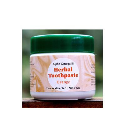 Alpha Omega III Herbal Toothpaste (102 g.) -- ORANGE-flavored