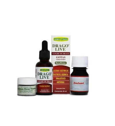 Amazon Salve Deep Tissue (22 g.) with Sangre de Drago (1 fl. oz.) and Izulant (1 fl. oz.) Analgesic Ant Tincture
