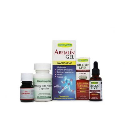 Anti-inflammation Bundle – Turmeric & Pepper, Sangre de Drago (22 g.), Abejalin Gel, AO Ichichimi Tincture.